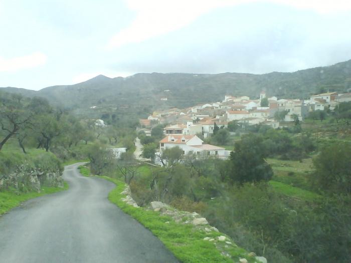 Vista de Benizalón desde el camino del Cerro Montegud