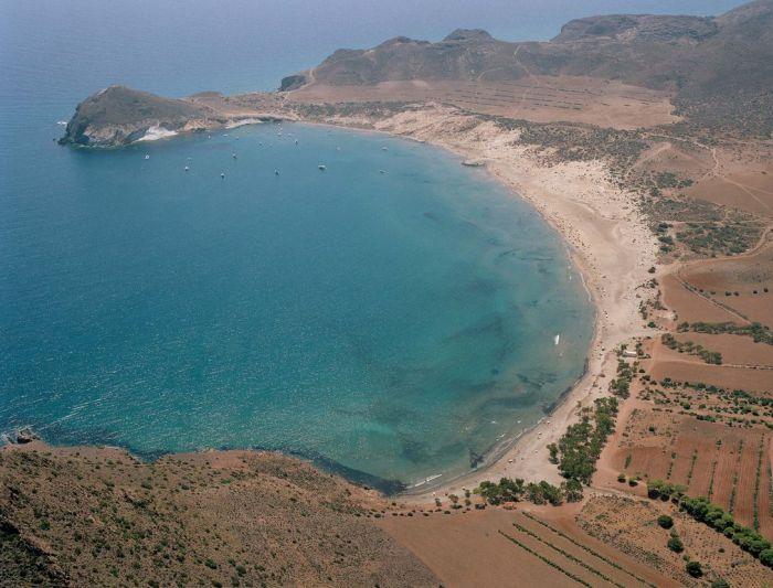 Vista áerea playa de los Genoveses