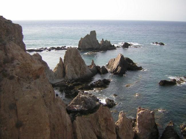 Arrecife de las Sineras en el Parque Natural de Cabo de Gata Níjar