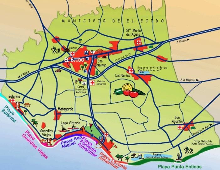Mapa de Playas Ayuntamiento de El Ejido
